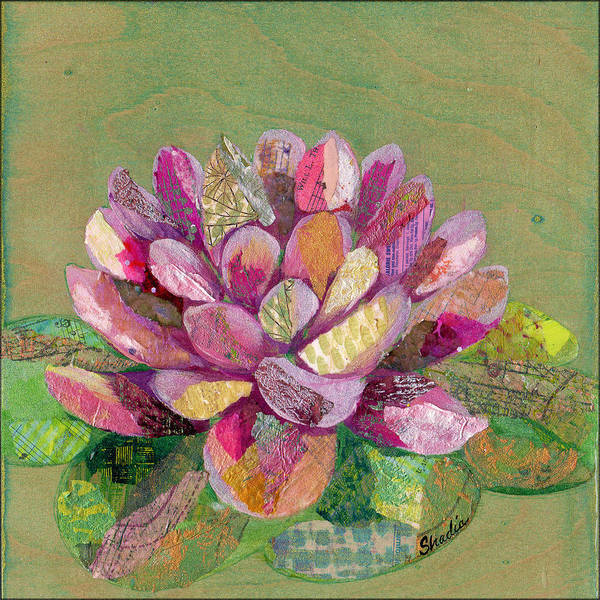 Delicate Painting - Lotus Series II - 3 by Shadia Derbyshire