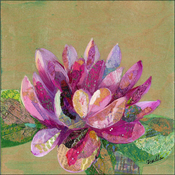 Blooming Painting - Lotus Series II - 4 by Shadia Derbyshire