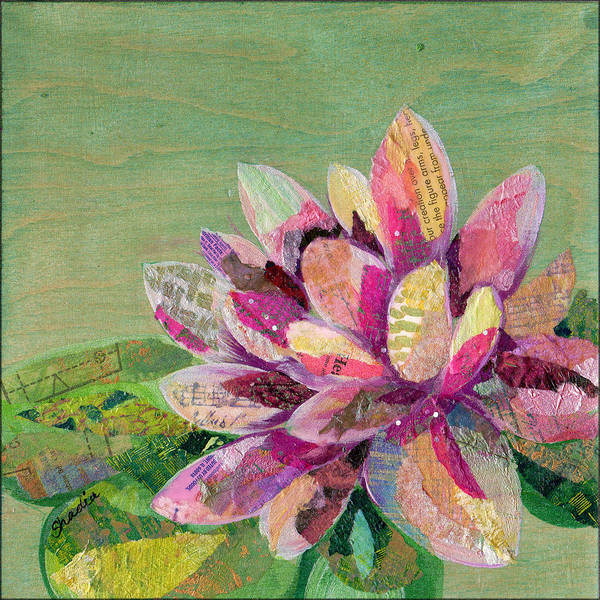 Meditative Wall Art - Painting - Lotus Series II - 5 by Shadia Derbyshire