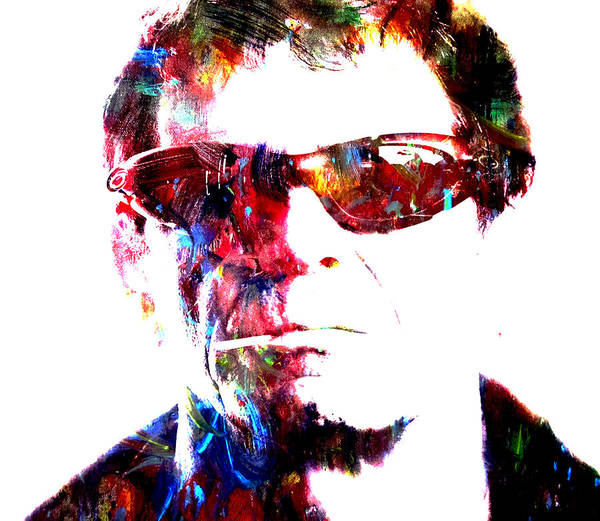 Free Jazz Painting - Lou Reed by Brian Reaves