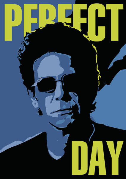 Glam Rock Digital Art - Lou Reed by Greatom London