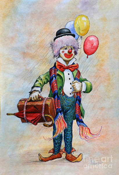 Wall Art - Painting - Lou The Clown by Anthony Forster