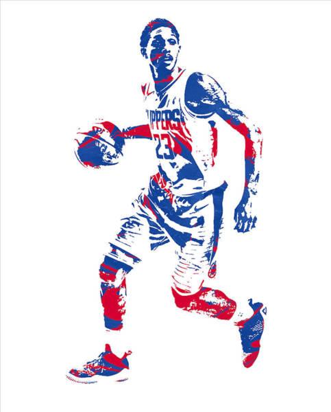 Clipper Wall Art - Mixed Media - Lou Williams Los Angeles Clippers Pixel Art 10 by Joe Hamilton