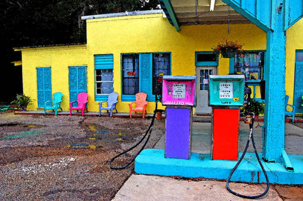 Painting - Loud Gas Pumps by Michael Thomas