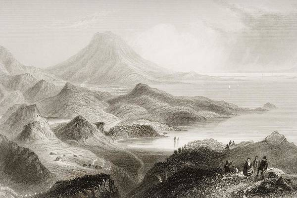 Conn Wall Art - Drawing - Lough Conn And Mount Nephin, County by Vintage Design Pics