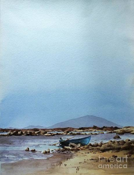 Painting - F  728  Lough Cullen And Neiphin, Mayo.. by Val Byrne