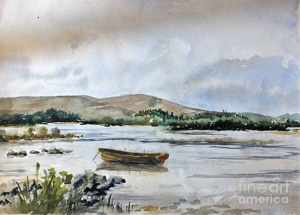 Painting - F 797 Lough Ennell, Mullingar by Val Byrne