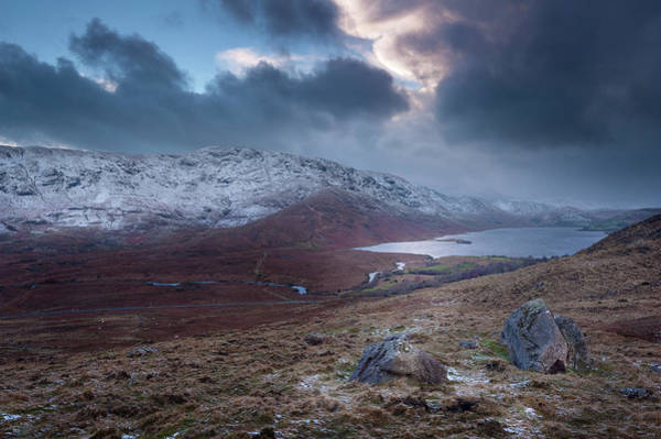 January Photograph - Lough Nafooey Winter Scene by Niall Whelan