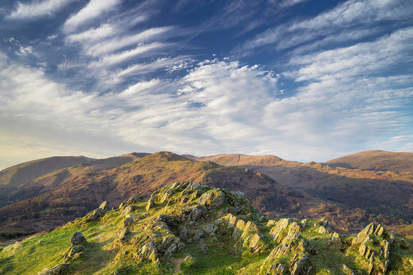 Grasmere Wall Art - Photograph - Loughrigg Fell by David Taylor