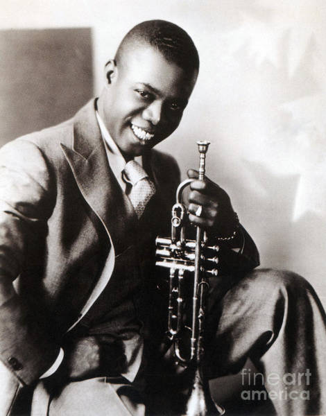 Notable Photograph - Louis Armstrong, American Jazz Musician by Science Source