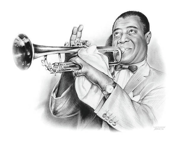 Wall Art - Drawing - Louis Armstrong by Greg Joens