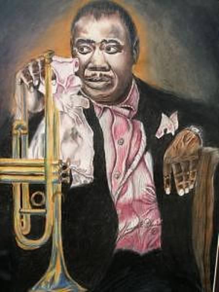 Wall Art - Drawing - Louis Armstrong by Dunbar's Modern Art