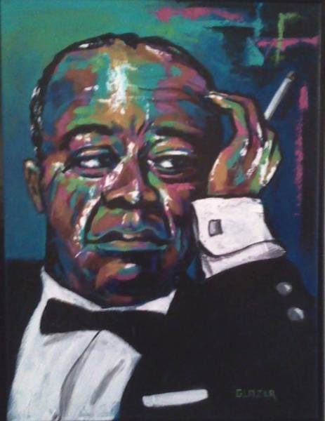 Wall Art - Painting - Louis Armstrong by Stuart Glazer