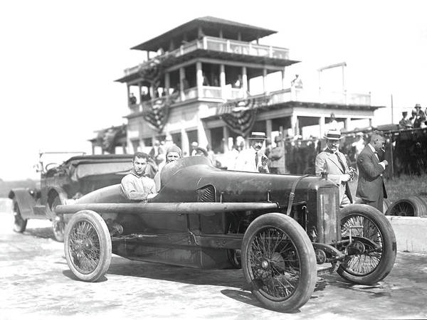 Photograph - Louis Chevrolet At Indy Bw by David King