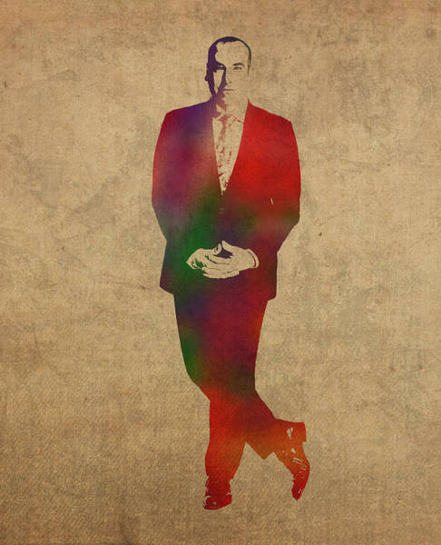 Wall Art - Mixed Media - Louis Litt From Suits Watercolor Portrait by Design Turnpike