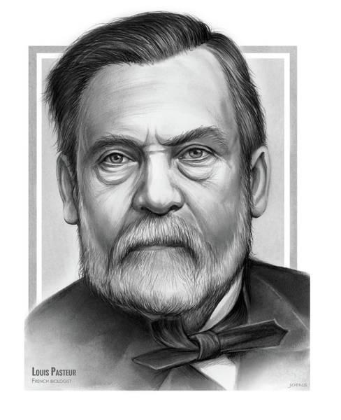 Scientists Wall Art - Drawing - Louis Pasteur  by Greg Joens