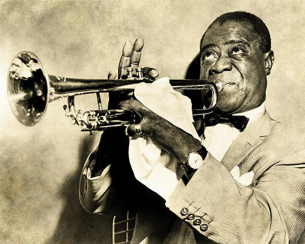 Digital Art - Louis Satchmo Armstrong by Anthony Murphy
