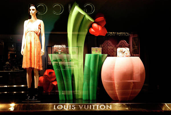 Photograph - Louis Viutton Window Display Vegas by Marilyn Hunt