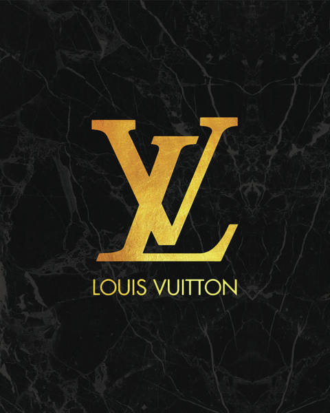Wall Art - Digital Art - Louis Vuitton - Black And Gold - Lifestyle And Fashion by TUSCAN Afternoon