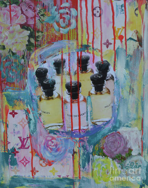 Wall Art - Mixed Media - Louis Vuitton Les Parfums by To-Tam Gerwe