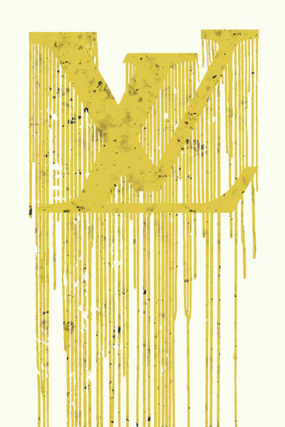 Wall Art - Painting - Louis Vuitton Logo 3 by Del Art