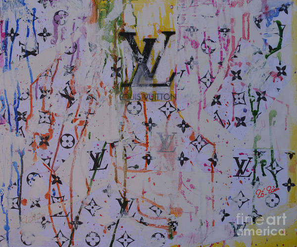 Wall Art - Mixed Media - Louis Vuitton Monograms by To-Tam Gerwe