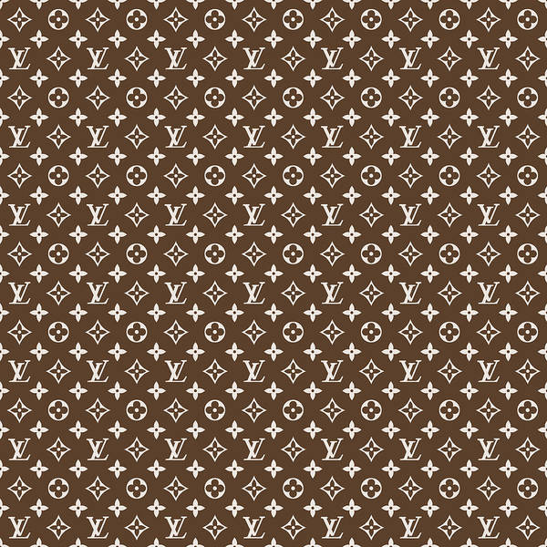 Wall Art - Digital Art - Louis Vuitton Pattern - Lv Pattern 04 - Fashion And Lifestyle by TUSCAN Afternoon