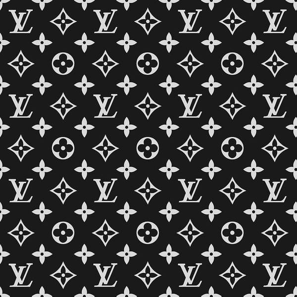 Wall Art - Digital Art - Louis Vuitton Pattern - Lv Pattern 06 - Fashion And Lifestyle by TUSCAN Afternoon