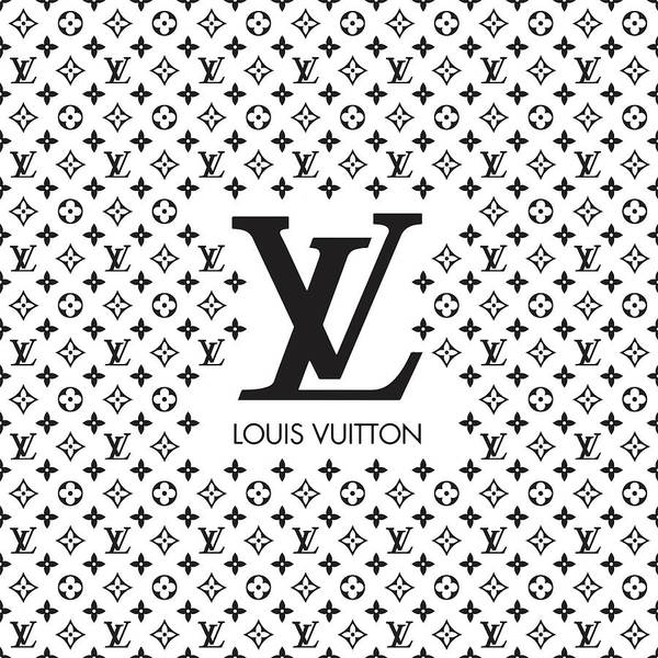 Wall Art - Digital Art - Louis Vuitton Pattern - Lv Pattern 08 - Fashion And Lifestyle by TUSCAN Afternoon
