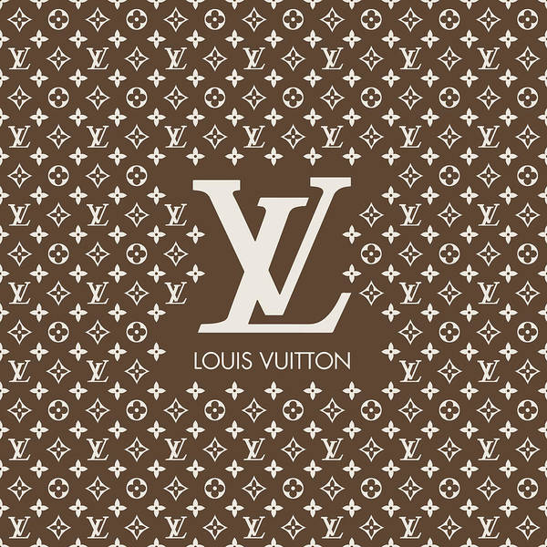 Wall Art - Digital Art - Louis Vuitton Pattern - Lv Pattern 12 - Fashion And Lifestyle by TUSCAN Afternoon