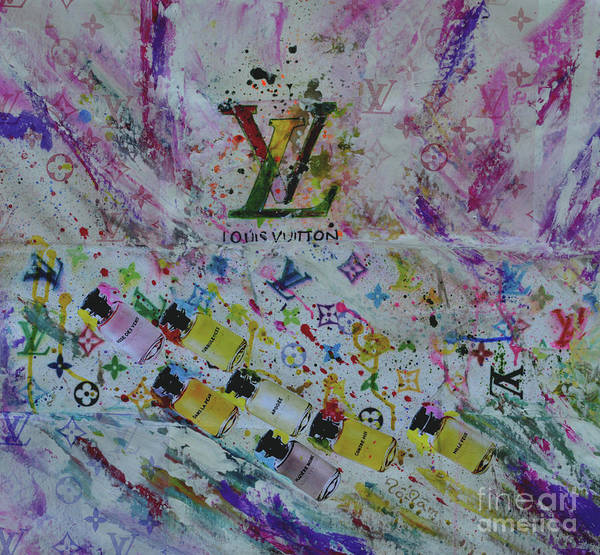 Spatter Mixed Media - Louis Vuitton The Magnificent Seven  by To-Tam Gerwe