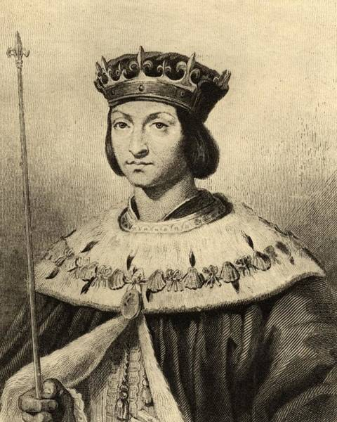 Wall Art - Drawing - Louis Xii Of France, Father Of The by Vintage Design Pics