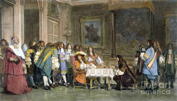 1665 Wall Art - Photograph - Louis Xiv & Moliere by Granger