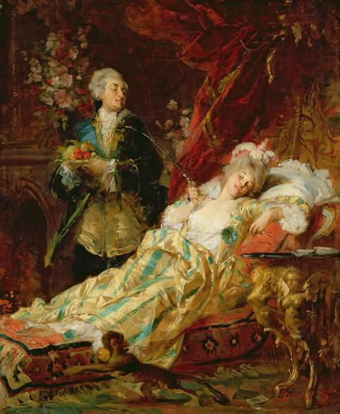 Wall Art - Painting - Louis Xv And Madame Dubarry by  Gyula Benczur