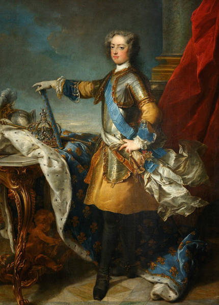 Painting - Louis Xv, King Of France And Navarre by Jean-Baptiste Van Loo