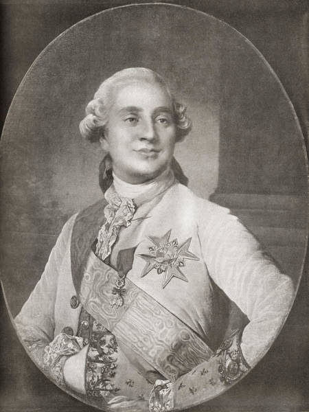 Wall Art - Drawing - Louis Xvi, 1754 by Vintage Design Pics