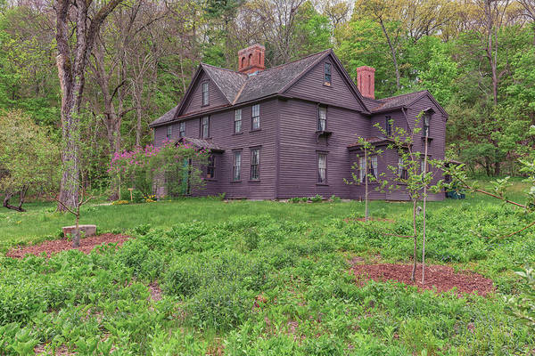 Photograph - Louisa May Alcotts Orchard House Concord Massachusetts by Brian MacLean