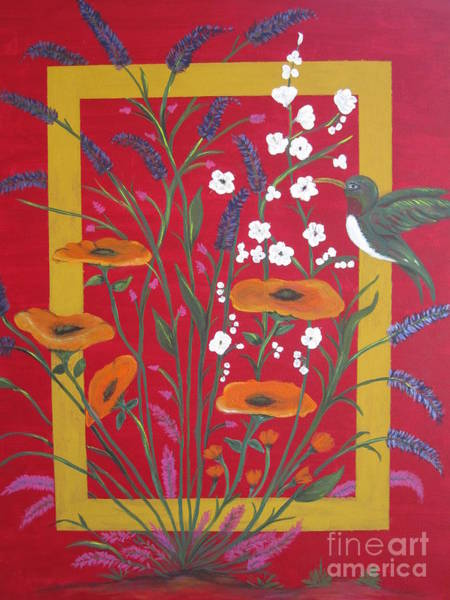 Wall Art - Painting - Louisa's Hummingbird by Shana Vanbebber