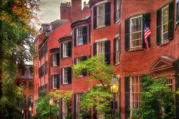 Photograph - Louisburg Square - Beacon Hill Boston by Joann Vitali