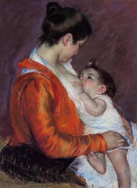 Orchard Digital Art - Louise Nursing Her Child by Marry Cassatt