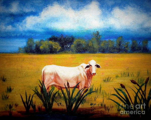 Painting - The Lonely Bull by Georgia's Art Brush