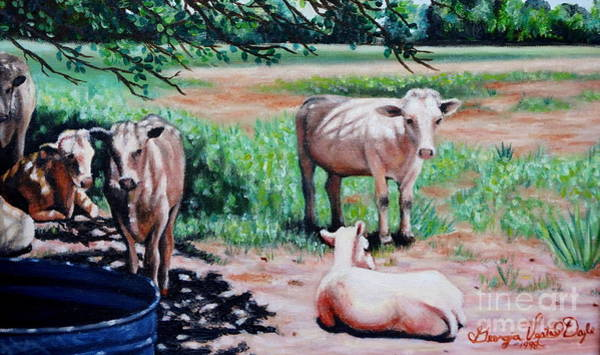 Painting - Louisiana Cows by Georgia's Art Brush