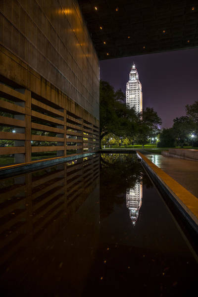 Photograph - Louisiana State Capitol Framed by Andy Crawford