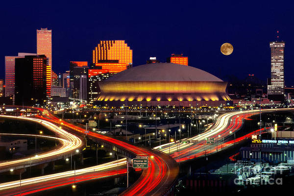 Photograph - Louisiana Superdome, New Orleans by Jerry Lodriguss
