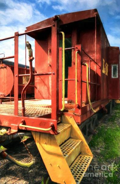 Red Caboose Photograph - Louisville And Nashville Red Caboose by Mel Steinhauer