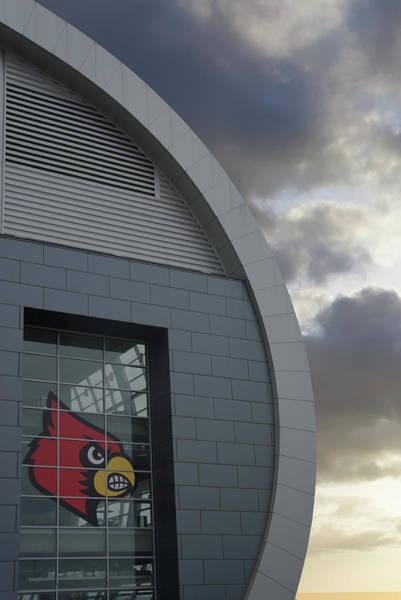 Wall Art - Photograph - Louisville Cardinals Logo At Kfc Yum Center by Art Spectrum