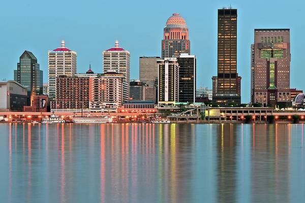 Wall Art - Photograph - Louisville Towers At Dusk by Frozen in Time Fine Art Photography