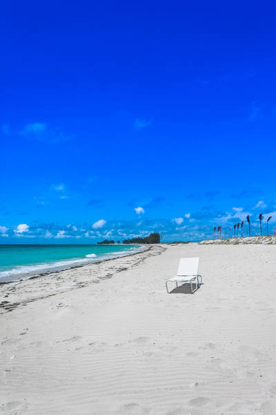 Photograph - Lounge Chair At A Bimini Beach by Ed Gleichman