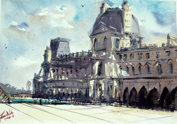Wall Art - Painting - Louvre 1 by James Nyika