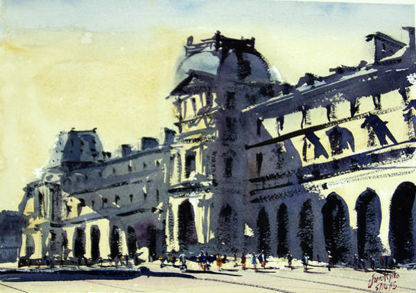 Wall Art - Painting - Louvre 2 by James Nyika
